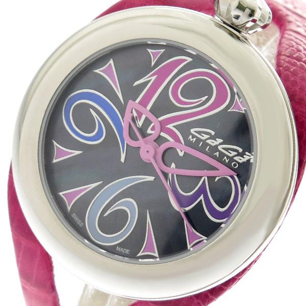 ガガミラノ GAGA MILANO 腕時計 メンズ レディース 6070.02 クォーツ ブラック ピンク ピンク【送料無料】
