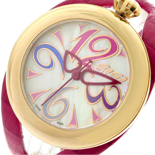 ガガミラノ GAGA MILANO 腕時計 メンズ レディース 6071.01 クォーツ ホワイト ピンク ピンク【送料無料】