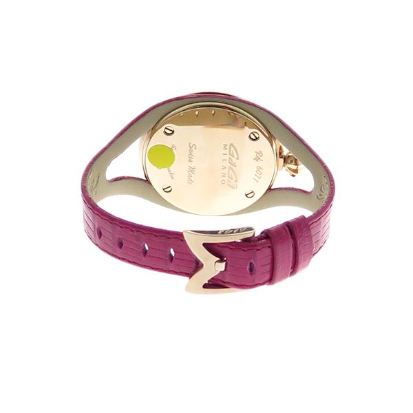 ガガミラノ GAGA MILANO 腕時計 メンズ レディース 6071.01 クォーツ ホワイト ピンク ピンク