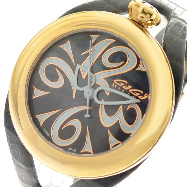 ガガミラノ GAGA MILANO 腕時計 メンズ レディース 6071.03 クォーツ ブラック グレー グレー【送料無料】