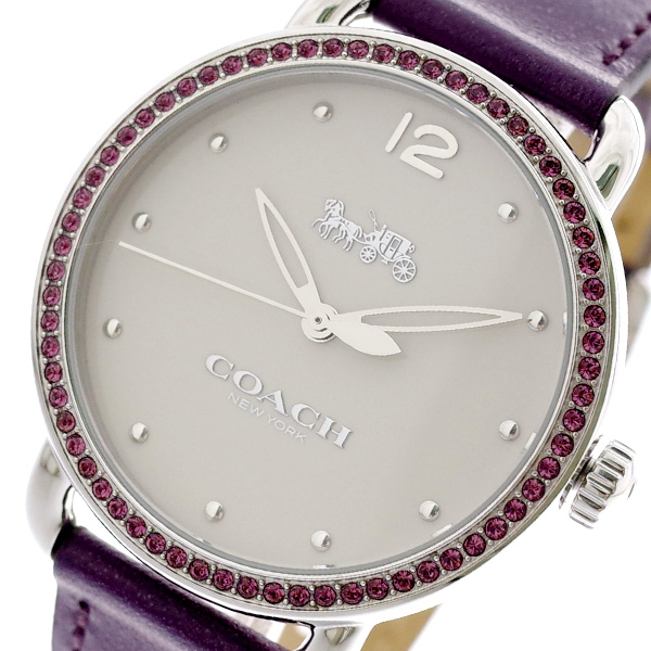 コーチ COACH 腕時計 レディース 14502886 クォーツ オフホワイト パープル パ^プル【送料無料】
