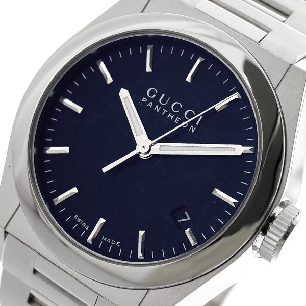 グッチ GUCCI パンテオン PANTHEON 腕時計 メンズ レディース YA115423 ブラック ブラック【送料無料】