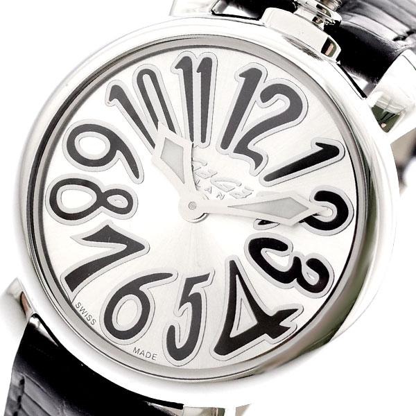 ガガミラノ GAGA MILANO 腕時計 レディース 6020.02LT マヌアーレ 35MM クォーツ シルバー ブラック シルバー【送料無料】