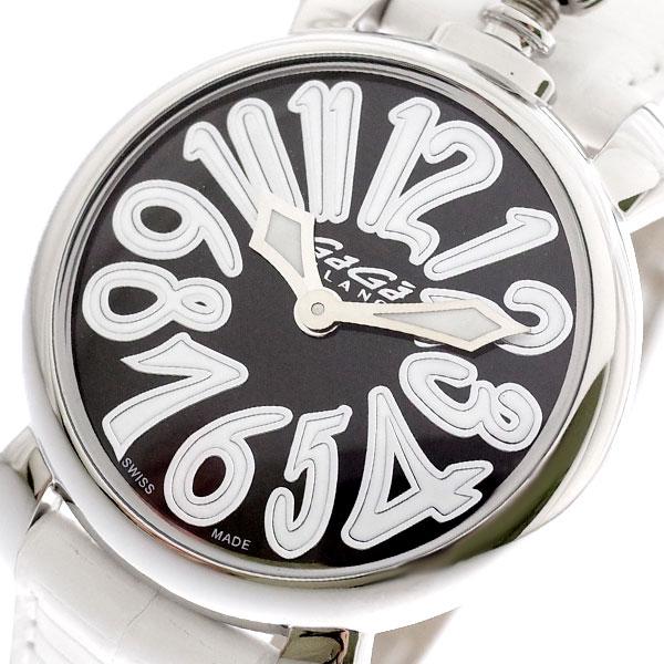 ガガミラノ GAGA MILANO 腕時計 レディース 6020.06LT マヌアーレ 35MM クォーツ ブラック ホワイト ブラック【送料無料】