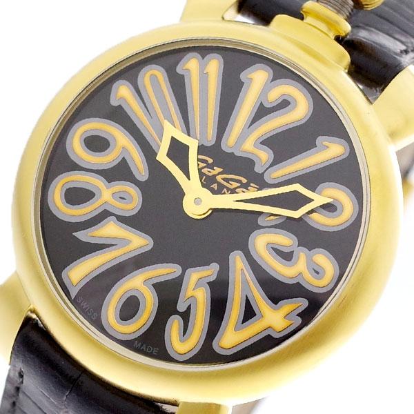 ガガミラノ GAGA MILANO 腕時計 レディース 6023.02LT マヌアーレ 35MM クォーツ ブラック ブラック【送料無料】