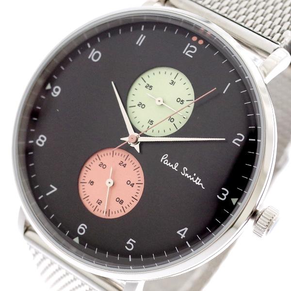 ポールスミス PAUL SMITH 腕時計 メンズ PS0070006 クォーツ ブラック シルバー ブラック【送料無料】