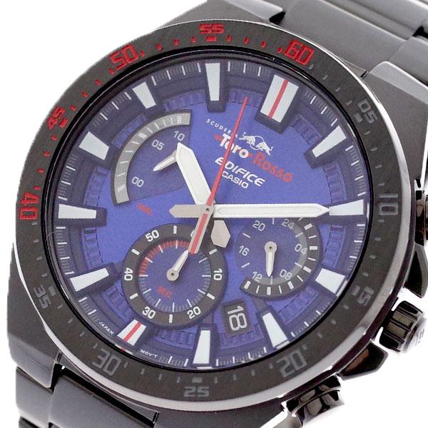カシオ CASIO 腕時計 メンズ EFR-563TR-2A エディフィス EDIFICE スクーデリア トロ ロッソ リミテッドエディション クォーツ ネイビー ブラック ネイビー【送料無料】:リコメン堂生活館