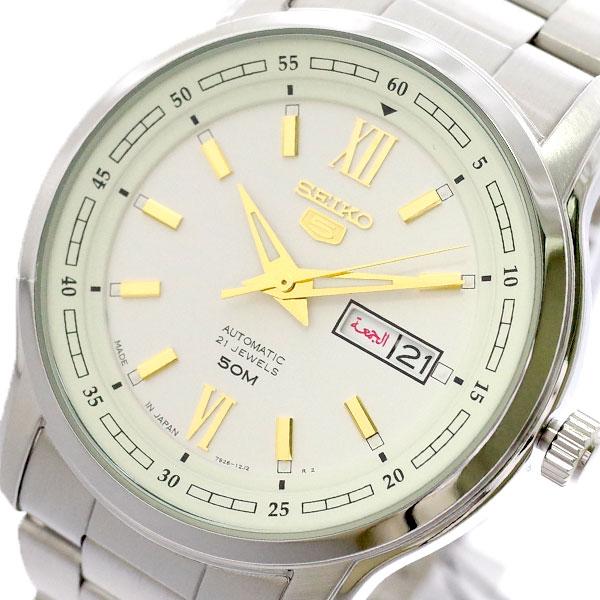 セイコー SEIKO 腕時計 メンズ SNKP15J1 セイコー5 SEIKO5 自動巻き ホワイト シルバー ホワイト【送料無料】