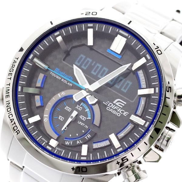 カシオ CASIO 腕時計 メンズ ECB-800D-1A エディフィス EDIFICE クォーツ グレー シルバー グレー【送料無料】
