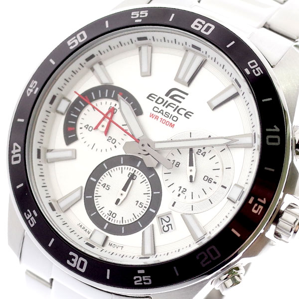 カシオ CASIO 腕時計 メンズ EFV-570D-7AV エディフィス EDIFICE クォーツ ホワイト シルバー ホワイ