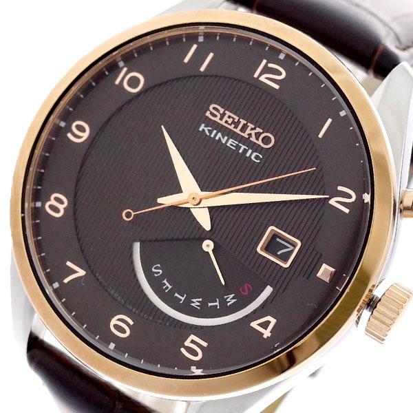 セイコー SEIKO 腕時計 メンズ SRN068P1 キネティック KINETIC 自動巻き ダークブラウン ダークブラウン【送料無料】