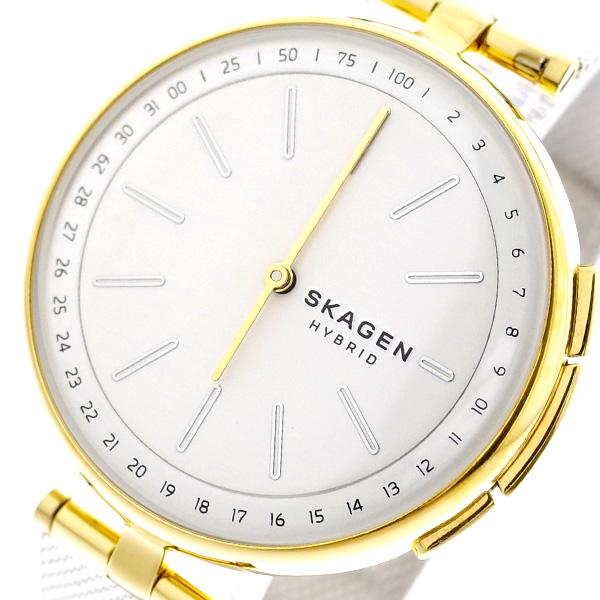 スカーゲン SKAGEN 腕時計 レディース SKT1413 ハイブリッド スマートウォッチ シグネチャー SIGNATUR クォーツ ホワイト シルバー ホワイト【送料無料】