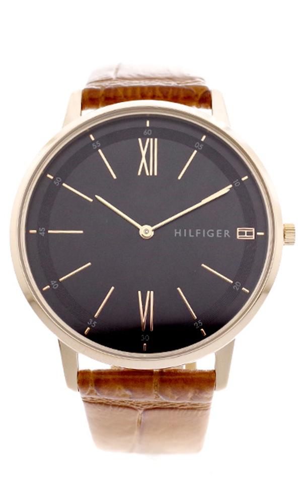 トミーヒルフィガー TOMMY HILFIGER 腕時計 メンズ レディース 1791516 クーパー COOPER クォーツ ブラック キャメル ブラック