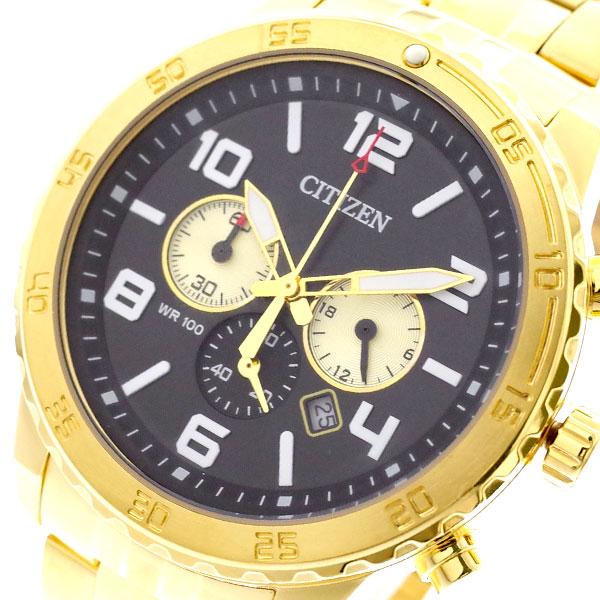 シチズン CITIZEN 腕時計 メンズ AN8132-58E クォーツ ブラック ゴールド ブラック【送料無料】