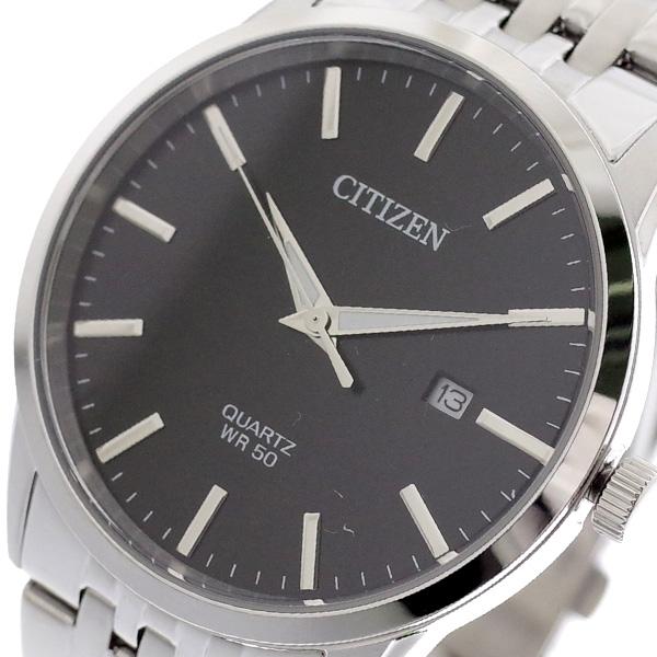 シチズン CITIZEN 腕時計 メンズ BI5000-87E クォーツ ブラック シルバー ブラック