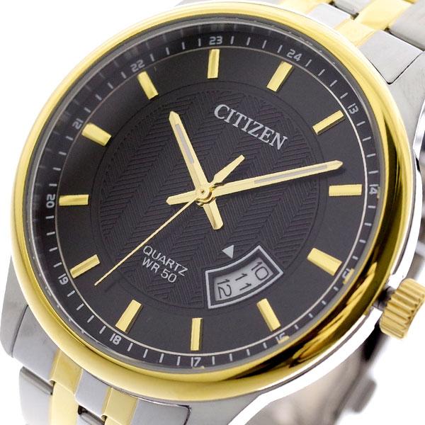 シチズン CITIZEN 腕時計 メンズ BI1054-80E クォーツ ブラック シルバー ブラック