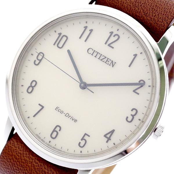 シチズン CITIZEN 腕時計 メンズ BJ6501-28A クォーツ ライトベージュ ブラウン ライトベージュ【送料無料】