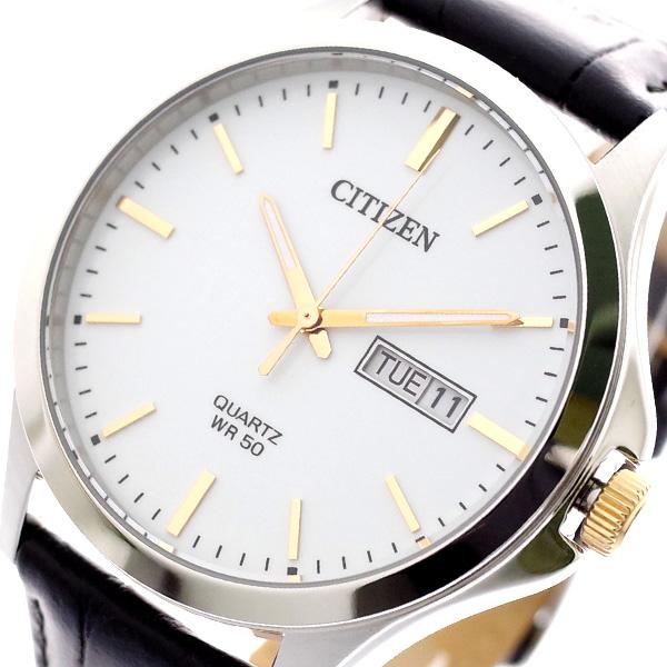 シチズン CITIZEN 腕時計 メンズ BF2009-11A クォーツ ホワイト ブラック ホワイト
