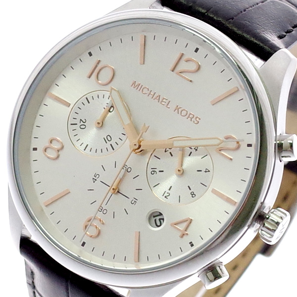 マイケルコース MICHAEL KORS 腕時計 メンズ MK8635 クォーツ シルバー ブラック シルバー【送料無料】