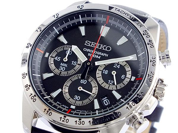 セイコー SEIKO クロノグラフ 腕時計 SSB033P1 ブラック【送料無料】