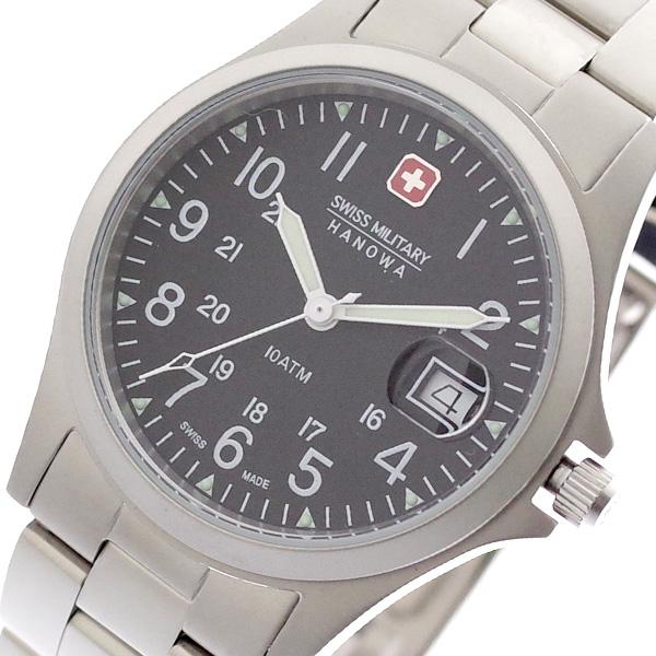 スイスミリタリー SWISS MILITARY 腕時計 メンズ レディース ML-17 クォーツ ブラック シルバー シルバー【送料無料】