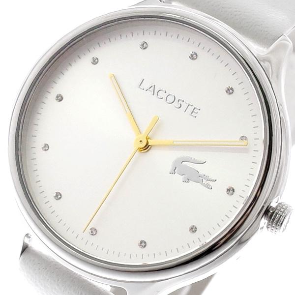 ラコステ LACOSTE 腕時計 レディース 2001005 CONSTANCE クォーツ シルバー ホワイト ホワイト【送料無料】
