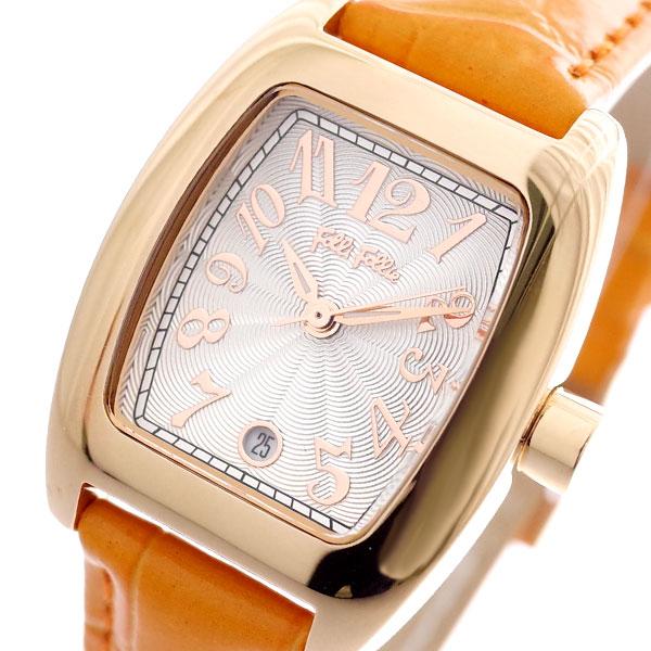 フォリフォリ FOLLI FOLLIE 腕時計 レディース WF5R080SDS-OR S922 クォーツ ホワイト オレンジ オレンジ