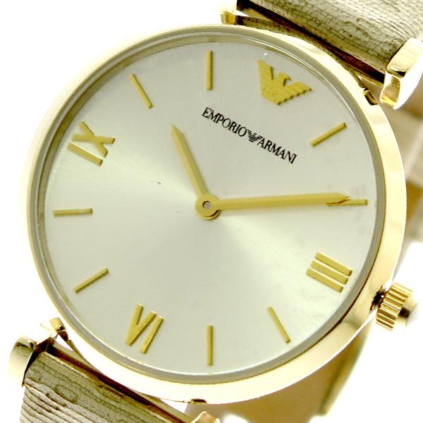 エンポリオアルマーニ EMPORIO ARMANI 腕時計 レディース AR11127 クォーツ シルバー ベージュ シルバー【送料無料】
