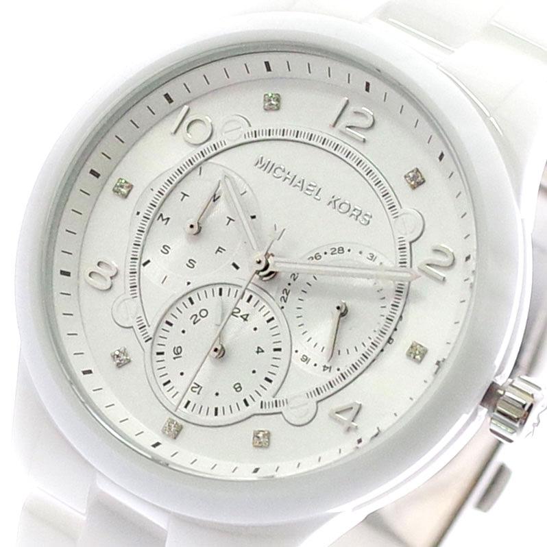 マイケルコース MICHAEL KORS 腕時計 レディース MK6617 クォーツ ホワイト ホワイト【送料無料】