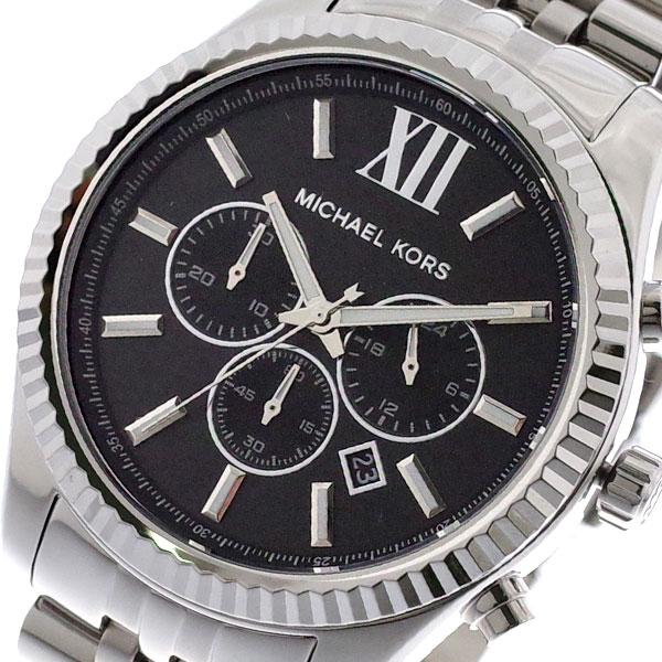 マイケルコース MICHAEL KORS 腕時計 メンズ MK8602 クォーツ ブラック シルバー ブラック【送料無料】