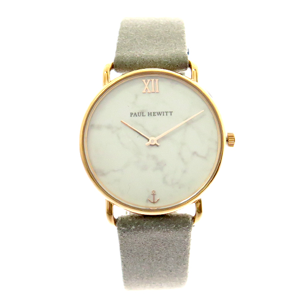 ポールヒューイット PAUL HEWITT 腕時計 レディース PH-M-R-M-35S 6453714 ミスオーシャンライン Miss Ocean Line クォーツ マーブル グレー ホワイトマーブル