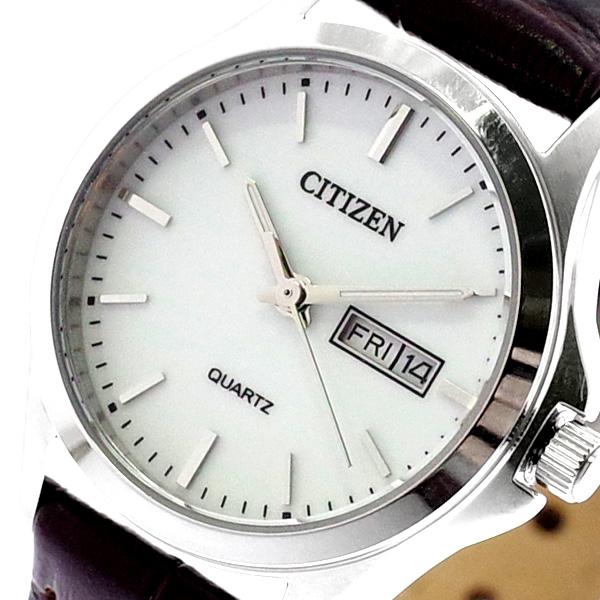 シチズン CITIZEN 腕時計 レディース EQ0591-21A クォーツ ホワイト ブラウン ホワイト