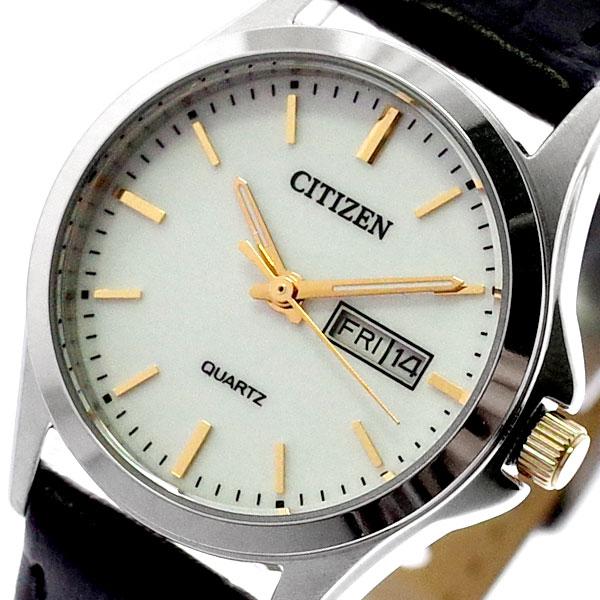 シチズン CITIZEN 腕時計 レディース EQ0599-11A クォーツ ホワイト ブラック ホワイト