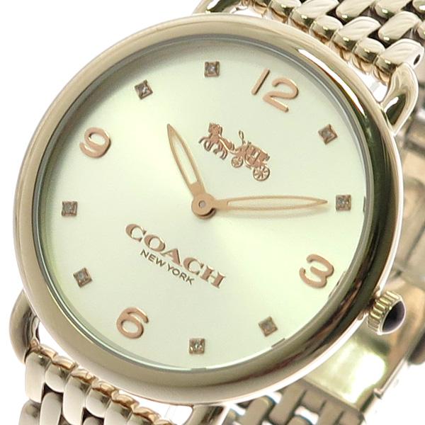 コーチ COACH 腕時計 レディース 14502787 デランシースリム クォーツ シルバー ピンクゴールド ピンクゴールド【送料無料】
