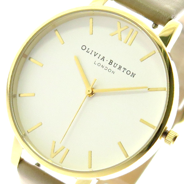 オリビアバートン OLIVIA BURTON 腕時計 レディース OB16BDW35 クォーツ ホワイト ベージュ ベージュ【送料無料】