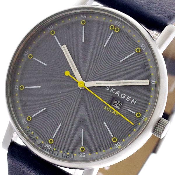スカーゲン SKAGEN 腕時計 メンズ SKW6451 SIGNATUR ソーラー クォーツ グレー ネイビー グレー【送料無料】