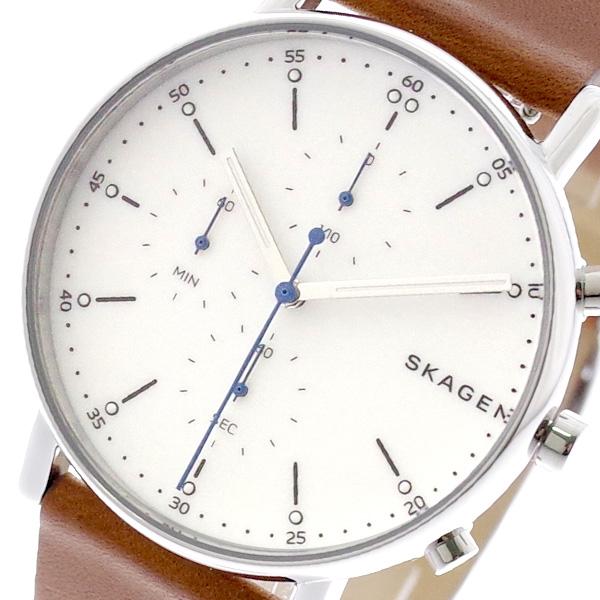 スカーゲン SKAGEN 腕時計 メンズ レディース SKW6462 SIGNATUR クォーツ ホワイト ブラウン ブラウン【送料無料】