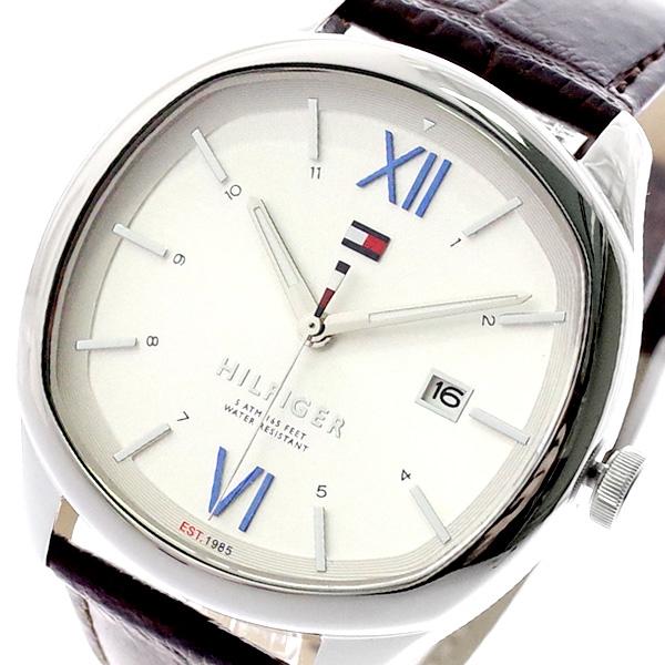 トミーヒルフィガー TOMMY HILFIGER 腕時計 メンズ 1710364 クォーツ ホワイト ダークブラン ホワイト【送料無料】