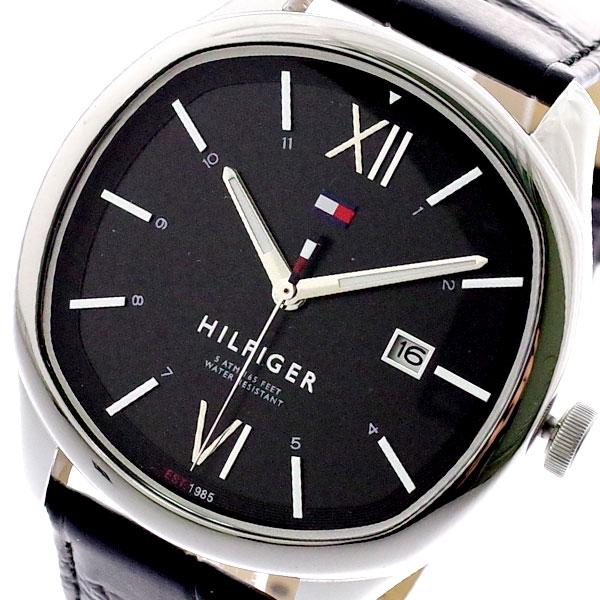 トミーヒルフィガー TOMMY HILFIGER 腕時計 メンズ 1710365 クォーツ ブラック ブラック【送料無料】