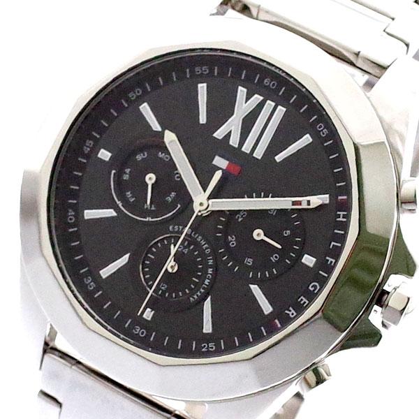 トミーヒルフィガー TOMMY HILFIGER 腕時計 メンズ 1781844 クォーツ ブラック シルバー ブラック【送料無料】