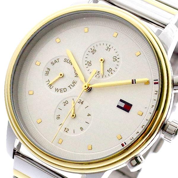トミーヒルフィガー TOMMY HILFIGER 腕時計 メンズ レディース 1781908 クォーツ ホワイト ゴールド ホワイト【送料無料】