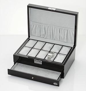 LUHW 時計ケース 時計10本収納 引き出し付 LU-50020N【送料無料】