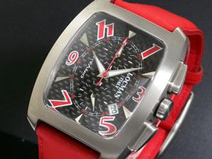 LOCMAN ロックマン 腕時計 ラージ 484 CB黒CB赤/赤 革【送料無料】