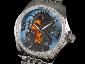 【18%OFF】 GALLUCCI ガルーチ 腕時計 スカル 自動巻き WT23175AU-BLH2, 黒木町 88a3a7c2