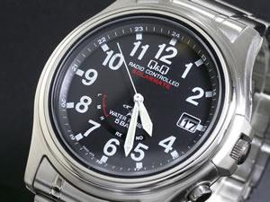 人気が高い シチズン製 Q&Q 電波 ソーラー 腕時計 時計 メンズ HG00-205【送料無料】, MRlab b2f4ee47
