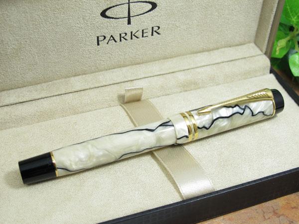 PARKER パーカー デュオ 万年筆 パール&ブラック GT センテ FP F 細字 H2 送料無料 超激得,豊富な