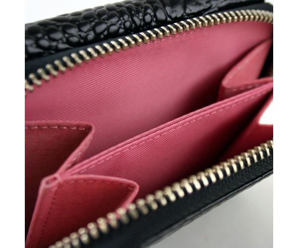 ロメオジリ ROMEO GIGLI レディース三つ折財布 レザー クロコ型押し G57062 BK ブラック RCPHWEIYe9D2