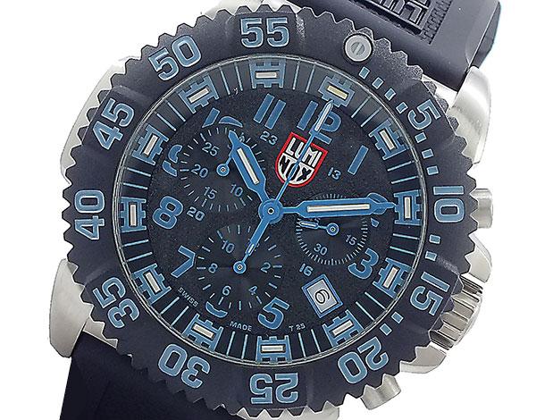 ルミノックス LUMINOX クロノグラフ 腕時計 3183CR ブラック&ブルー【送料無料】