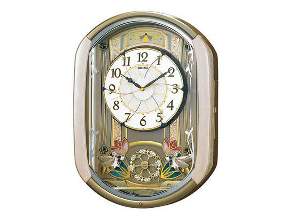 セイコー SEIKO からくり時計 電波時計 掛け時計 RE567GH2【送料無料】