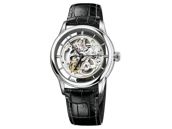 オリス ORIS アートリエ 自動巻き メンズ 腕時計 73476844051D SL×BK 国内正規【送料無料】